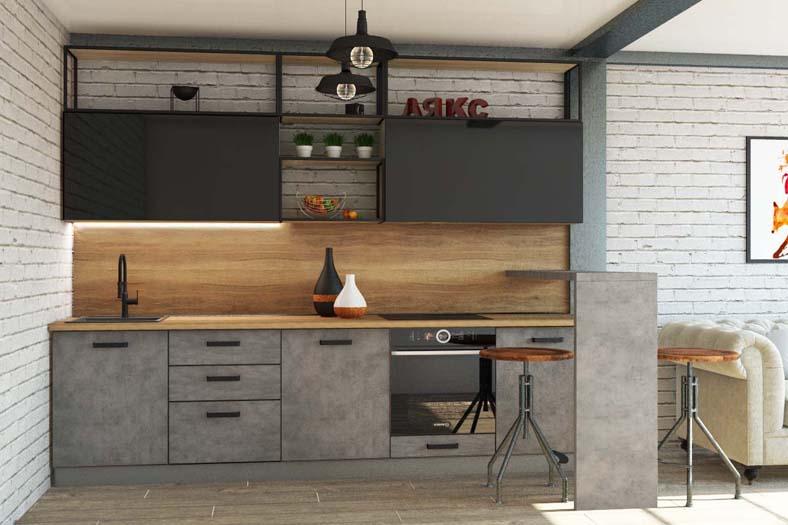 кухня фасад бетон